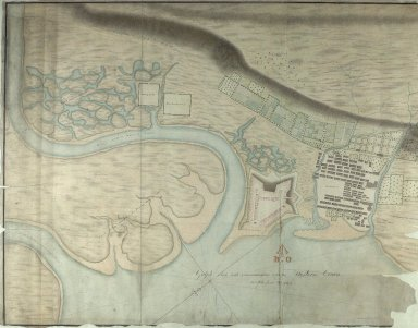 Draught of Fort William & Maryburgh with the fields and waters thereabouts at Inverlochie in Lochaber [original 1696] [1820 copy] [1 of 2]