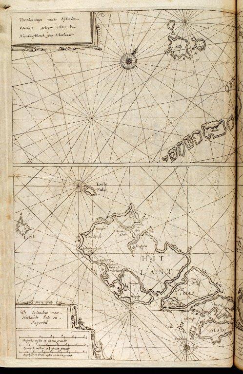 [a: top map:] Verthooninge vande Eijlanden Hebrides gelegen achter de Noordwesthoeck van Schotlandt [2 of 2]
