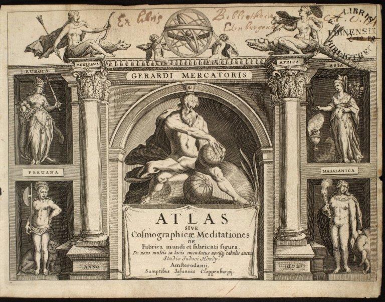 Mercator, Geradi. Atlas sive Cosmographicae Meditationes de Fabrica mundi et fabricati figura. [01 of 14]