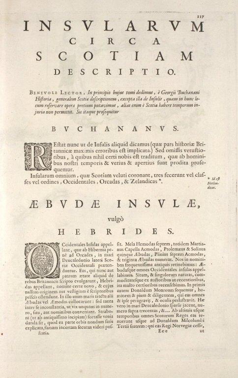 AEBUDAE INSULAE Sive HEBRIDES; [1 of 3]