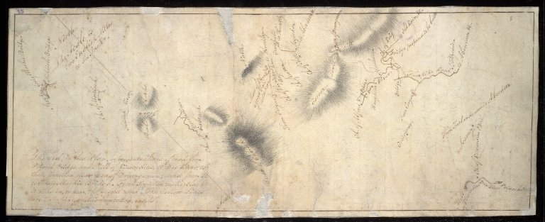 [Sketch plan of route of road from Kincardine O'Neill to Craigellachie Bridge] [1 of 1]