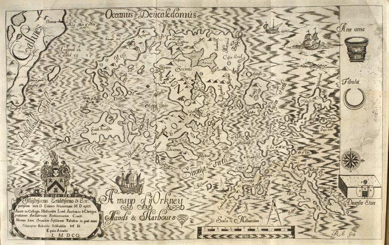 A mapp of ye Orkney Islands & Harbours [1 of 1]