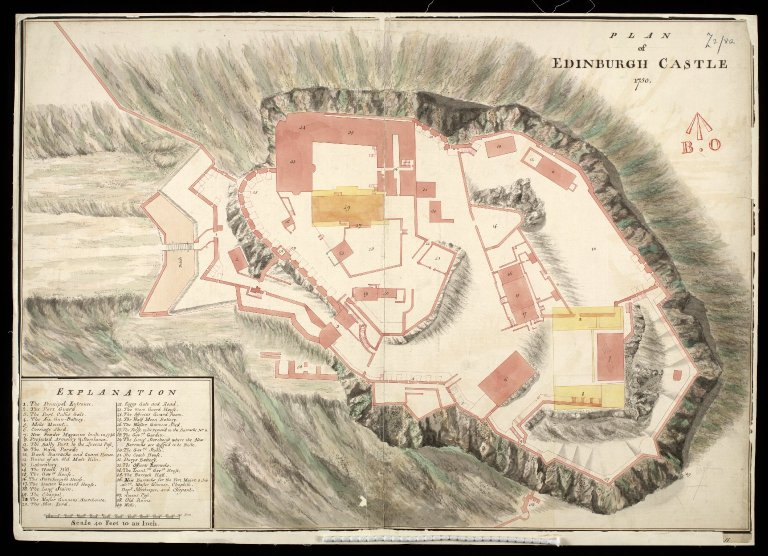 Plan of Edinburgh Castle,1750 [1 of 1]