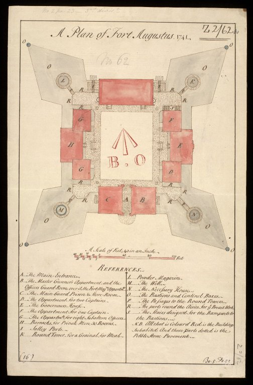 A Plan of Fort Augustus 1741. [1 of 2]