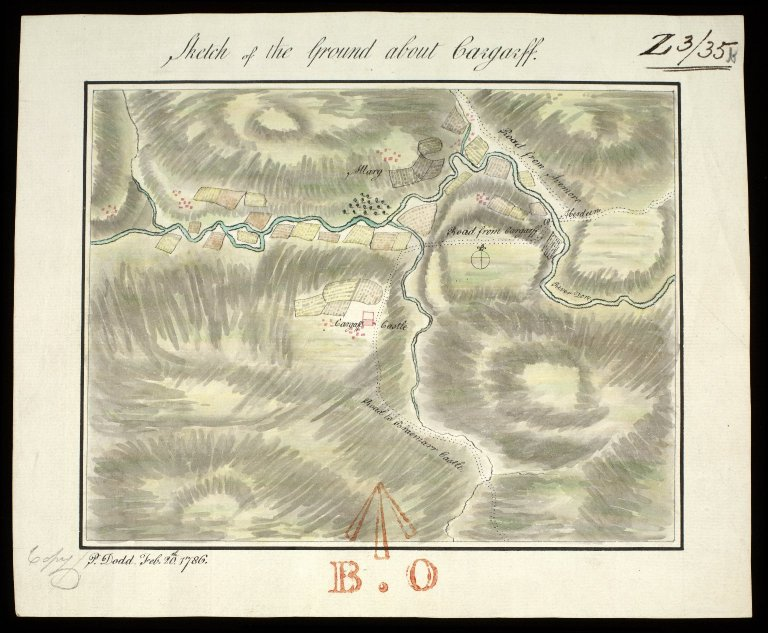 Sketch of the ground about Cargarff [i.e. Corgarff] [1748] [copy] [1 of 1]