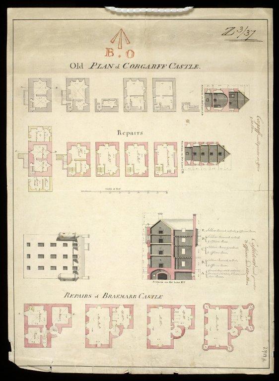 Old plan of Corgarff Castle ; Repairs. [1 of 1]