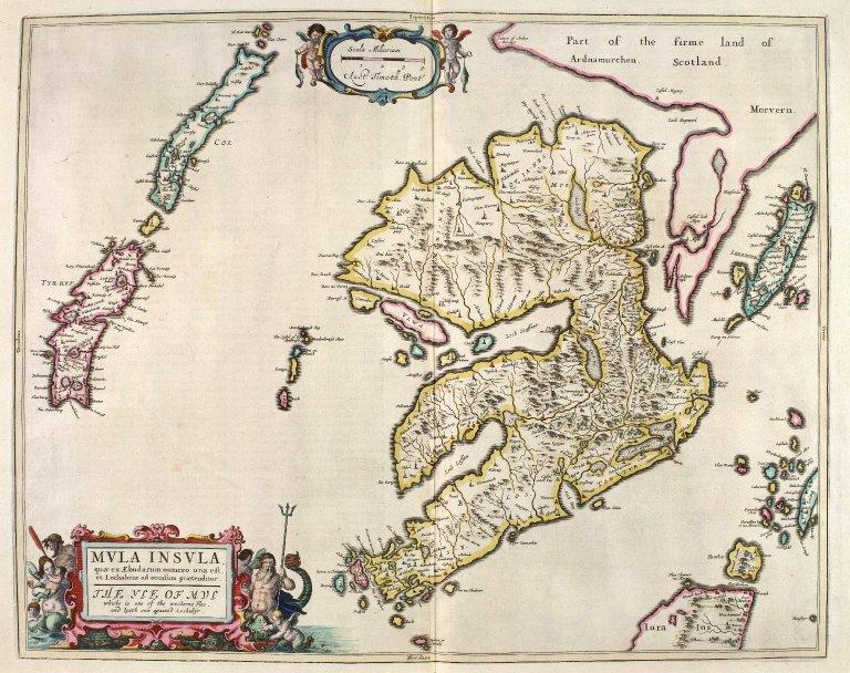 Mula Insula, quæ ex Æbudarum numero una est, et Lochabriæ ad occasum prætenditur. The Yle of Mul whiche is one of the westerne Yles, and lyeth ovir against Lochabyr. [1 of 1]