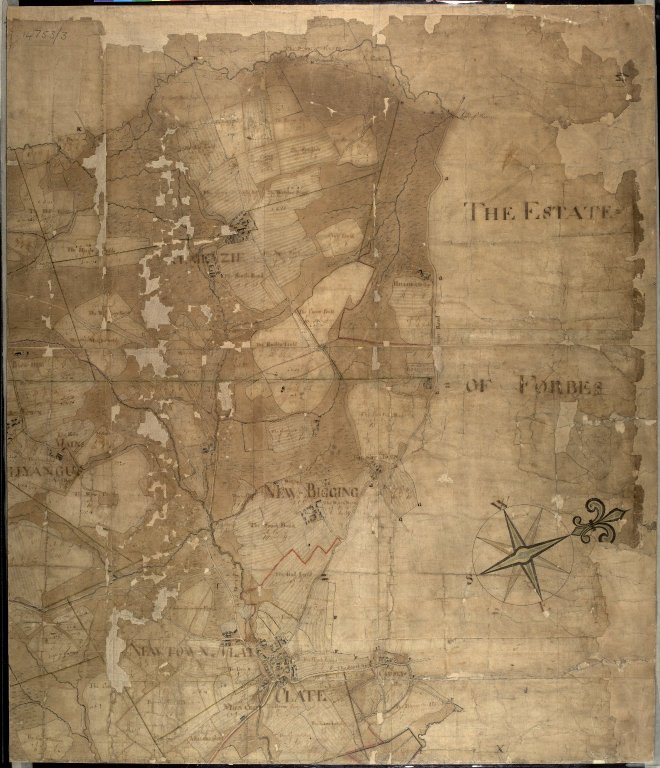 Plan of the Estates belongin to James Gordon of Moorplace Esqr. lying in the County of Aberdeen [6 of 9]