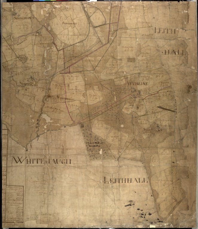 Plan of the Estates belongin to James Gordon of Moorplace Esqr. lying in the County of Aberdeen [9 of 9]