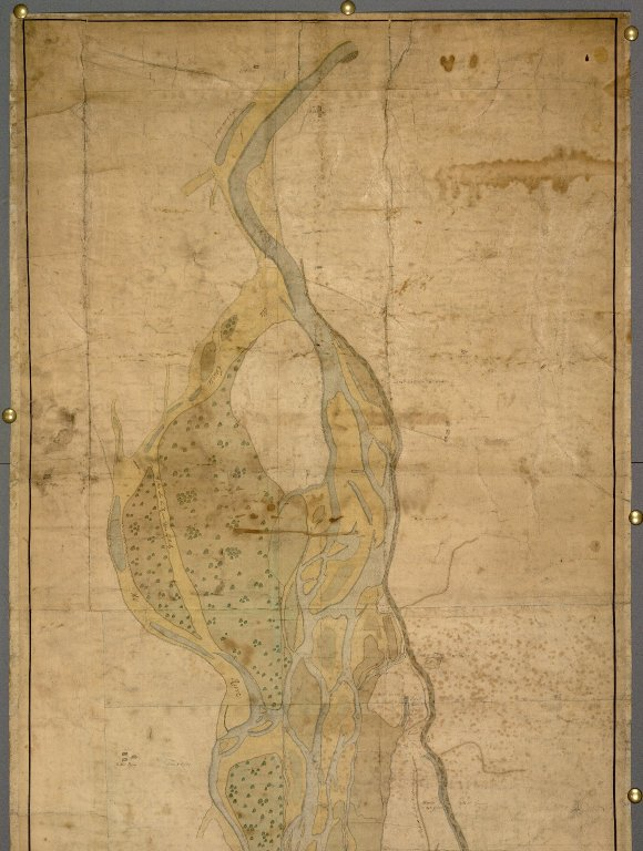 General Mapp of the River Spey from the Reid=rock above the Boat att Focober downward to the Sea [...] [2 of 2]