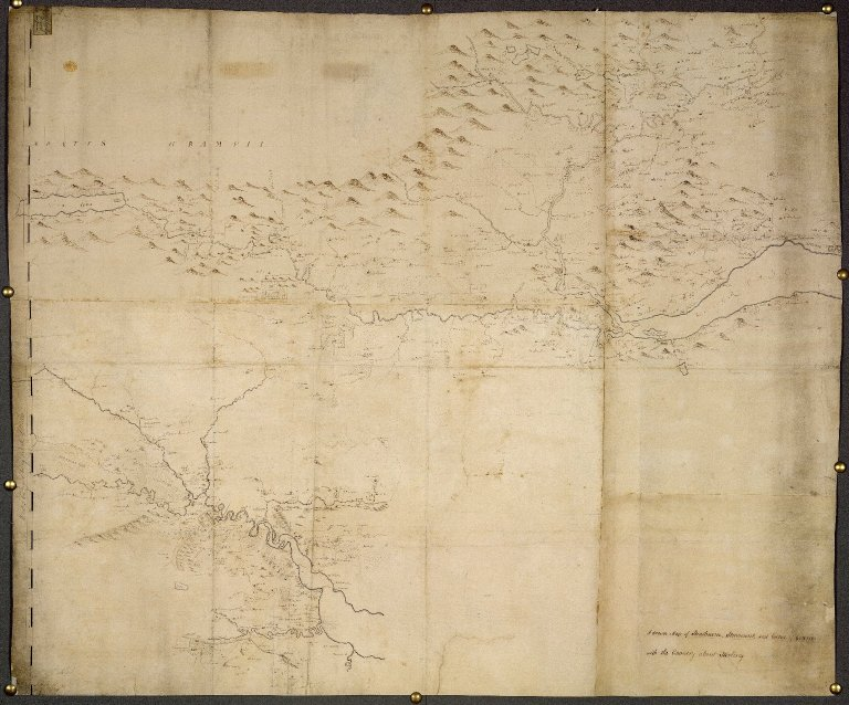A drawn Map of Strathearn, Stormount, and Carse of Gourie, with the Country about Stirling [1 of 1]