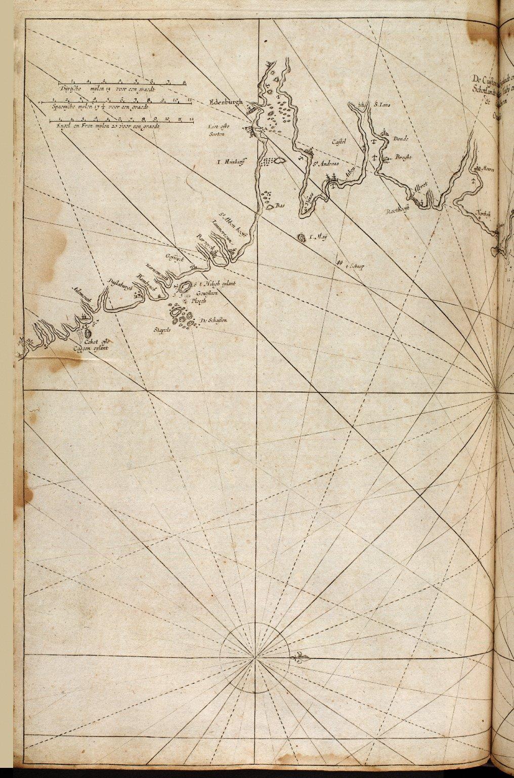 De custen van Engelandt en Schotlant tusschen Tinbij en de eijlanden van Orcanesse. [2 of 2]