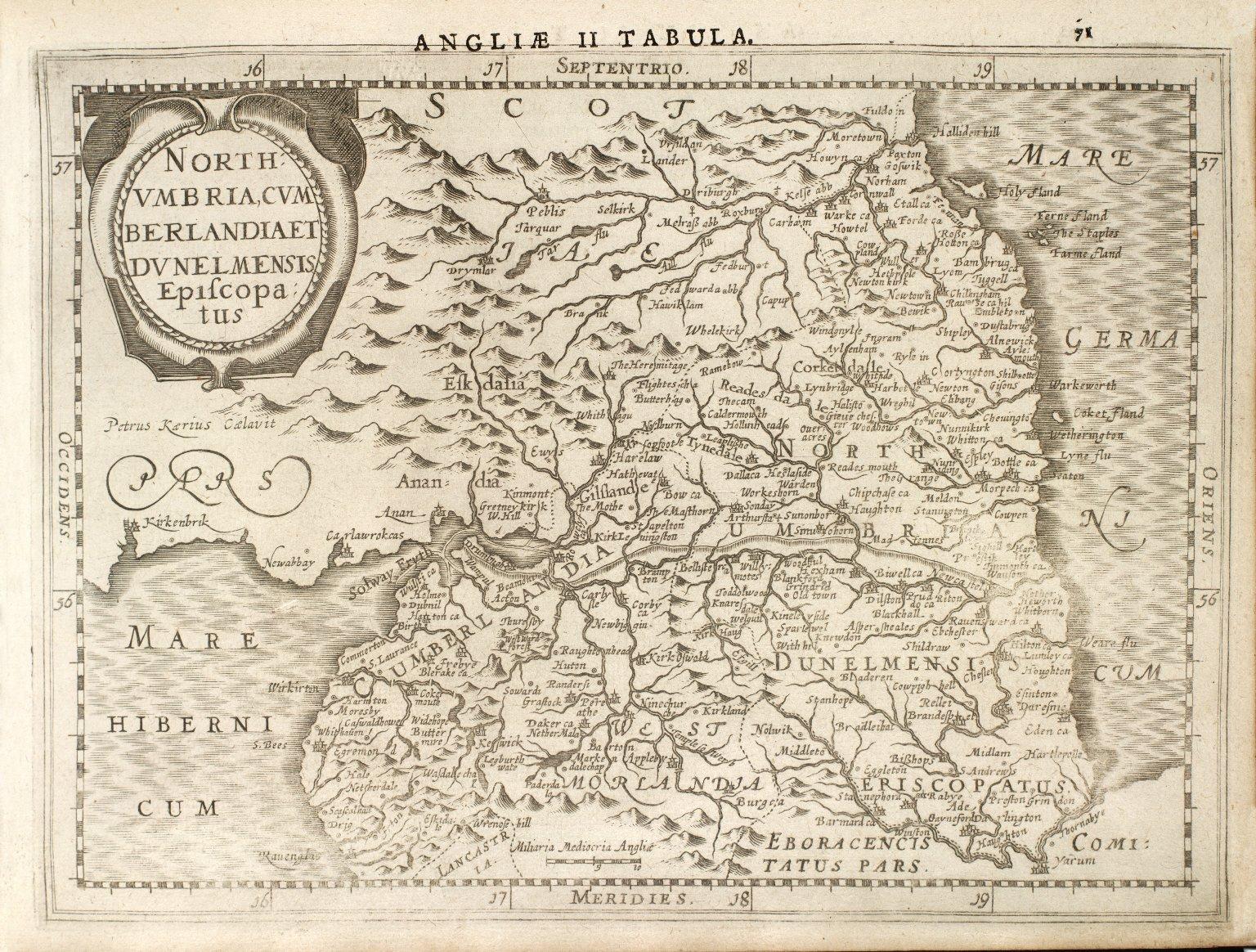 North: / Vmbria, Cvm / berlandia et / Dunelmensis / Episcopa: / tus [1 of 1]