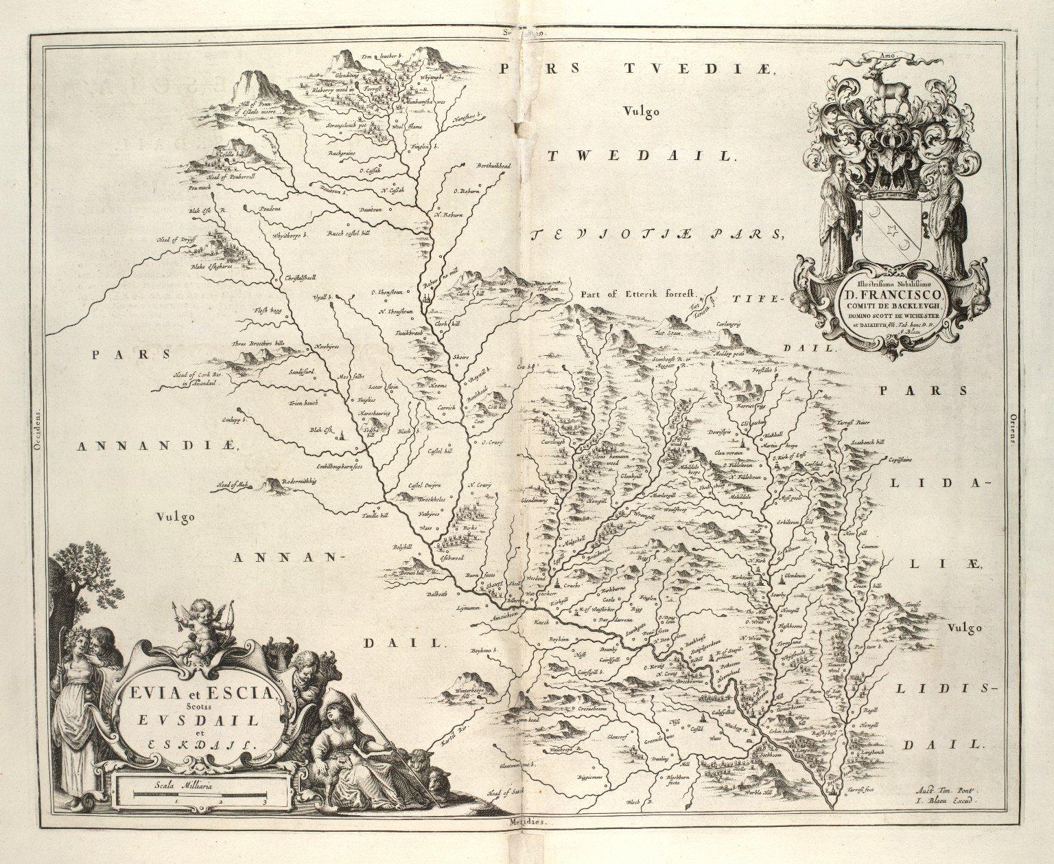 Evia et Escia : Scotis, Evsdail [i.e.Ewes Water] et Eskdail [i.e. Eskdale] [1 of 1]