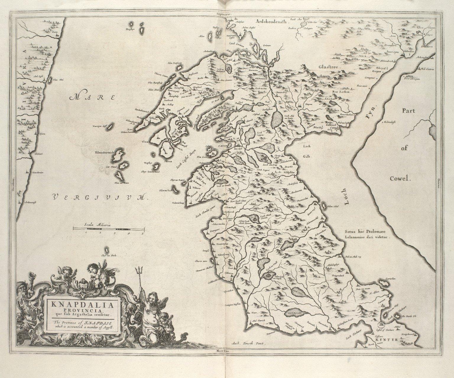 Knapdalia Provincia, que sub Argathelia censetur. [1 of 1]