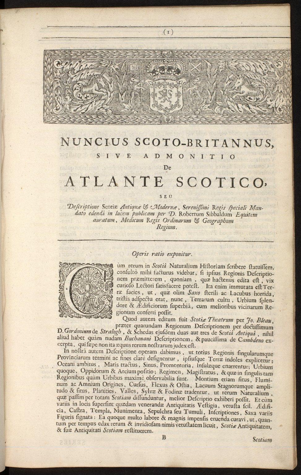 Nuncius Scoto-Britannus, sive admonitio de Atlante Scotico [03 of 18]