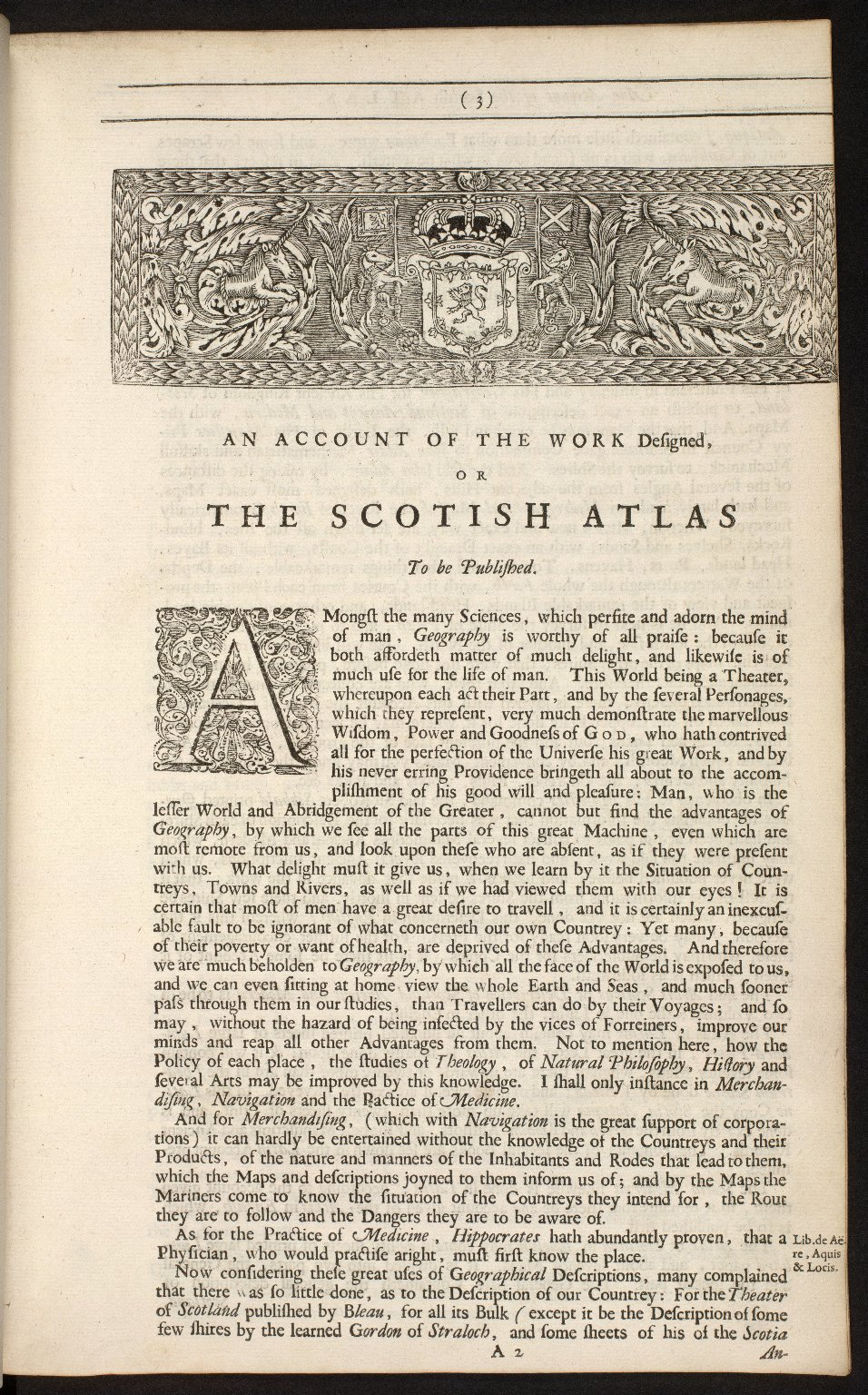 An account of the Scottish atlas or the description of Scotland ancient and modern. [02 of 13]