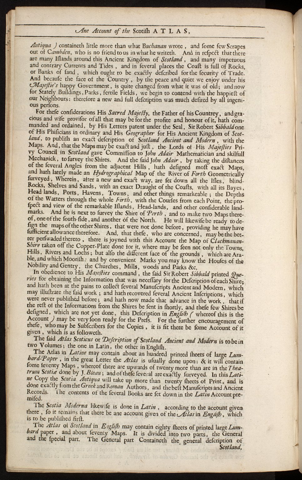 An account of the Scottish atlas or the description of Scotland ancient and modern. [10 of 13]