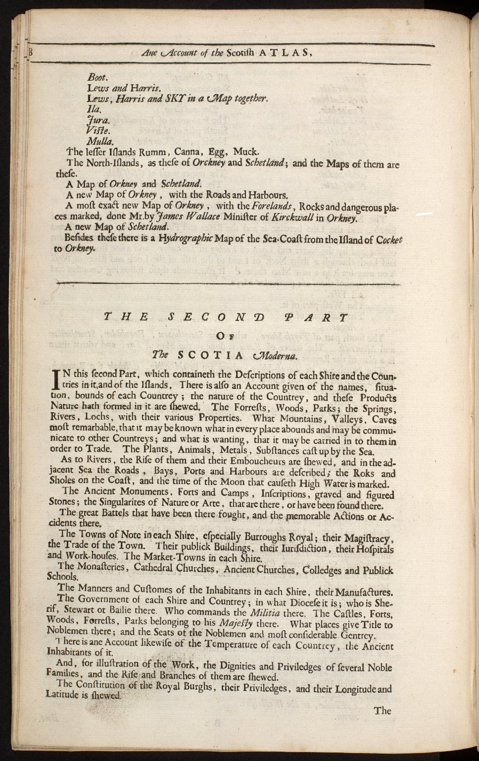An account of the Scottish atlas or the description of Scotland ancient and modern. [12 of 13]