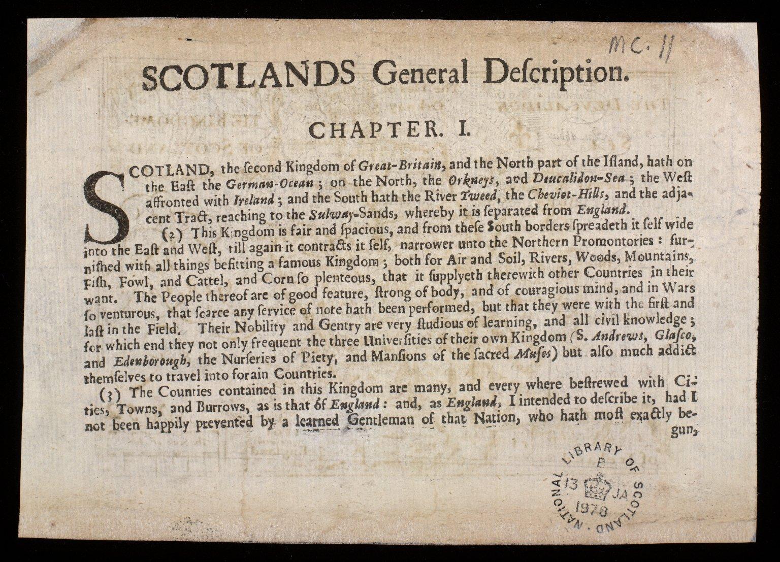 The Kingdome of Scotland [2 of 2]