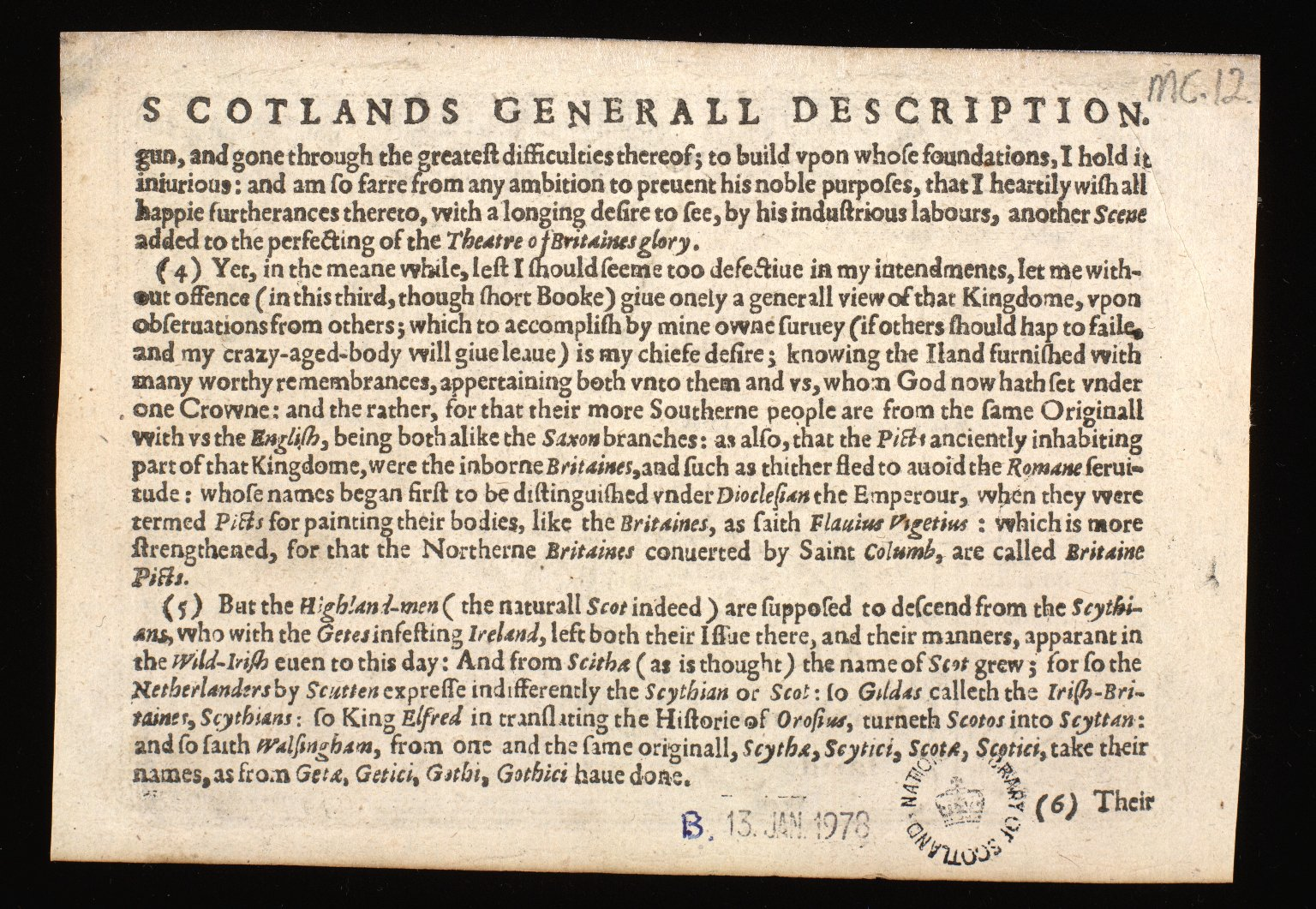 The South pt of Scotlad [sic] wherin are contayned Edinbrough St Andrew and Glasco Archbisho: [2 of 2]