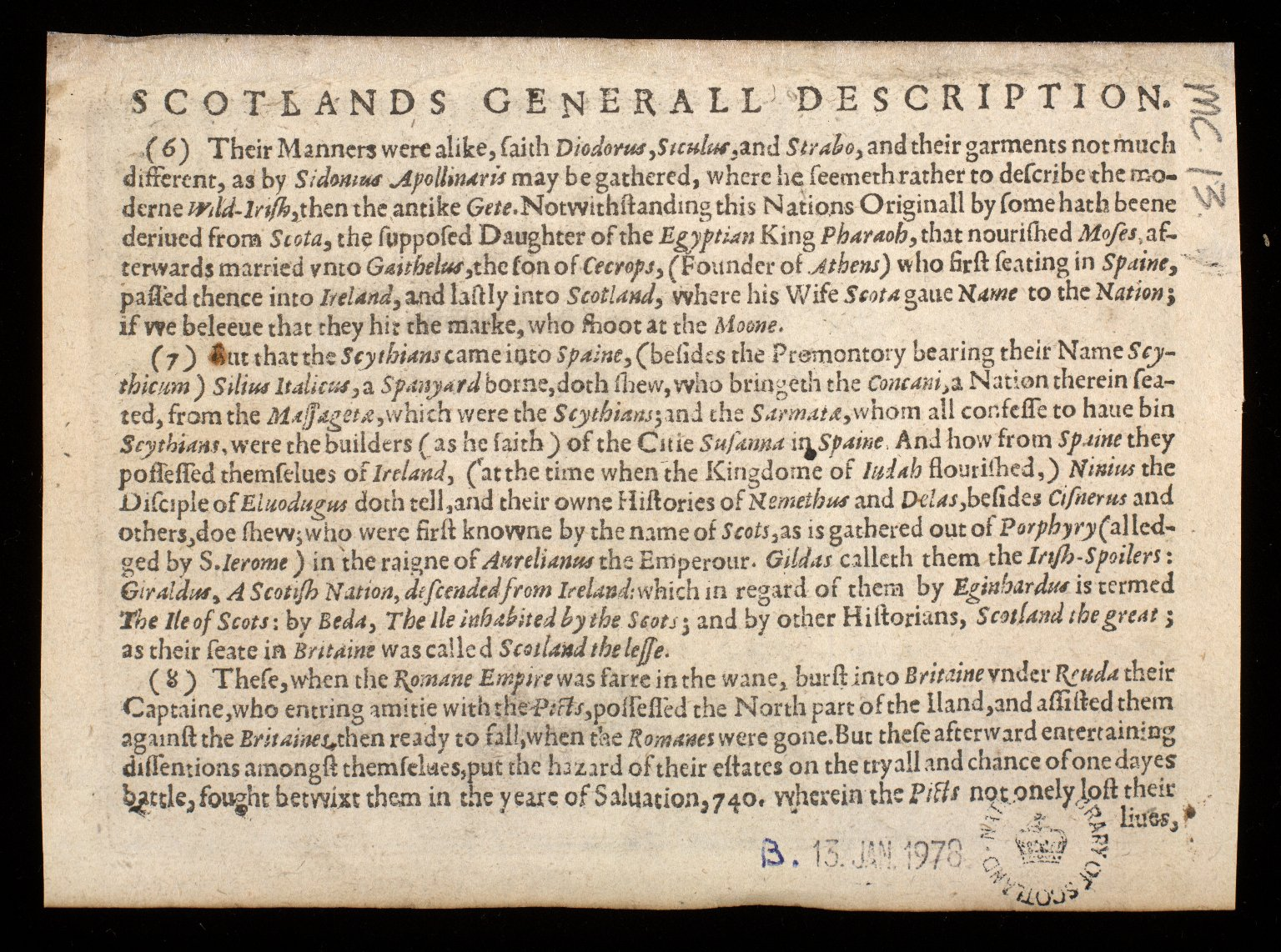 The Southren [sic] parte of Scotland, wherin is ye strange Lake Lomund [2 of 2]