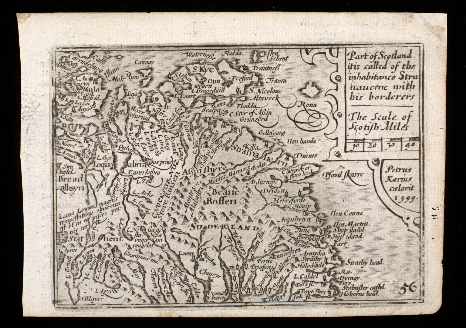 Part of Scotland it is called of the inhabitance Stra:naverne with his borderers [1 of 2]