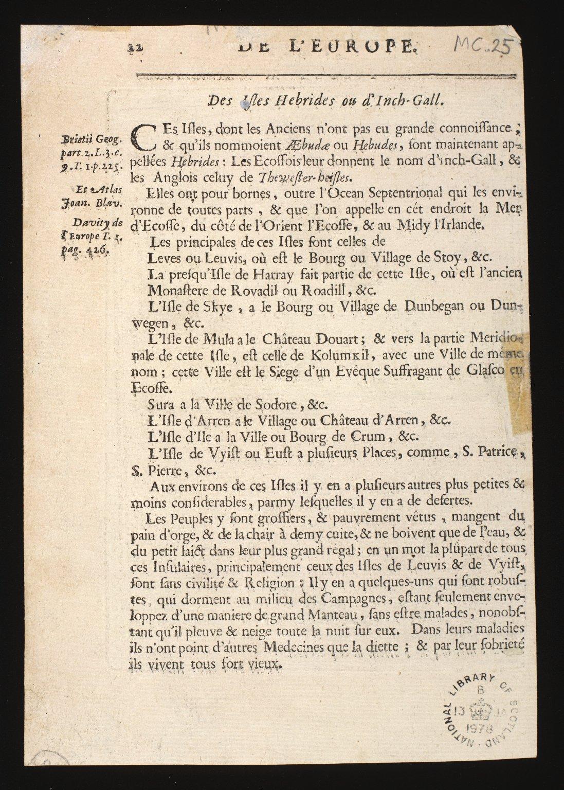Is de Fero de Scheland, Orknay et Hebrides [2 of 2]