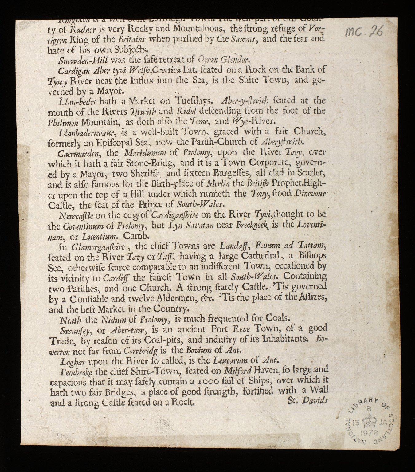 Scotiae Nova Descriptio [2 of 2]