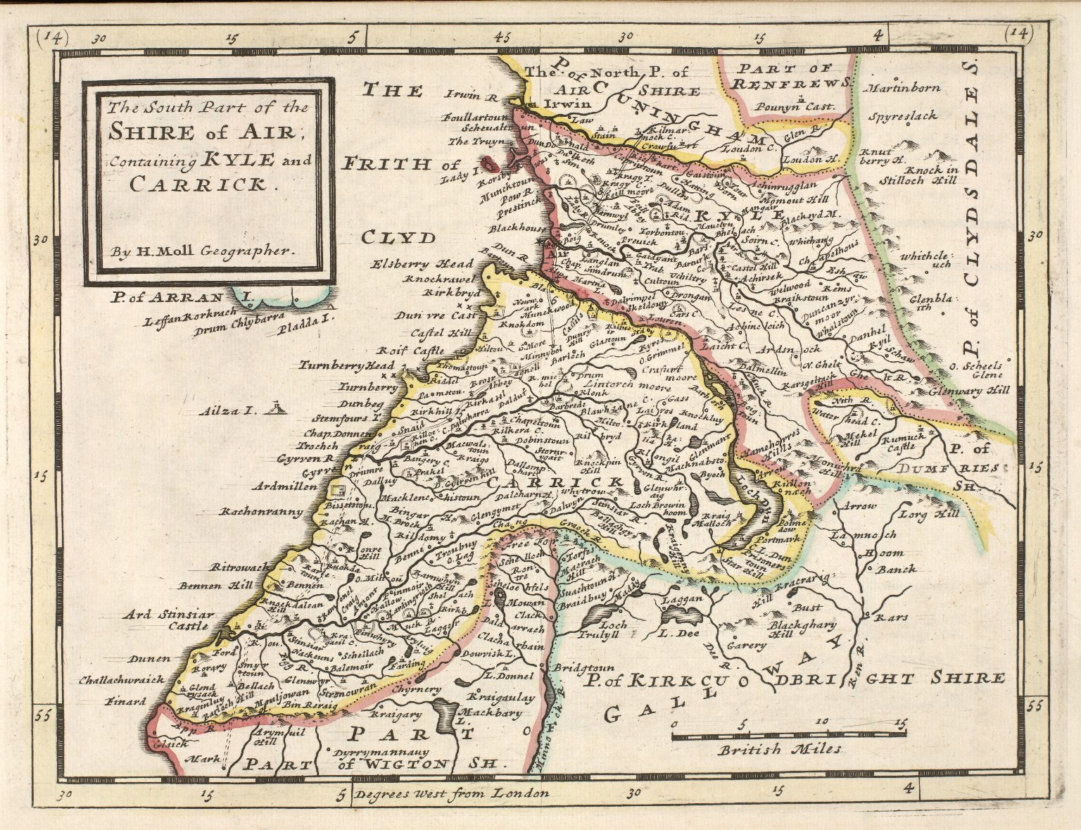 The South Part of the Shire of Air; Containing Kyle and Carrick. [1 of 1]