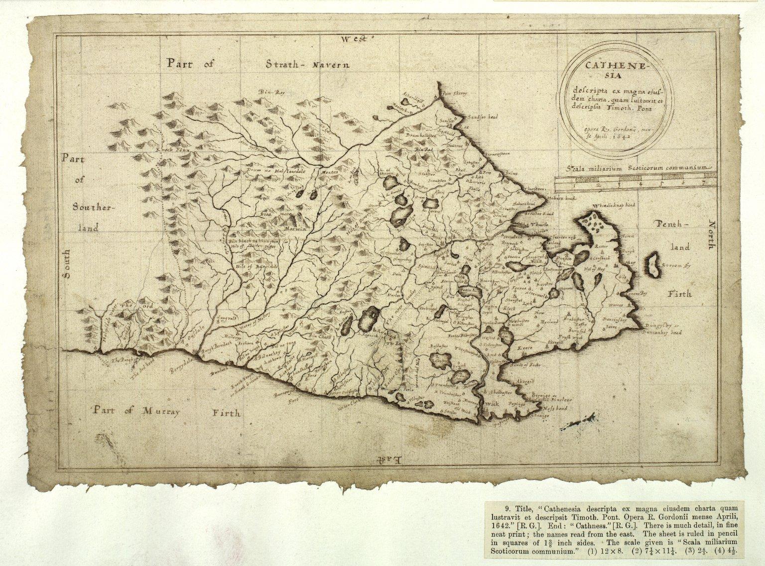 Cathenesia descripta ex magna ejusdem charta quam lustravit et descripsit Timoth. Pont [1 of 1]