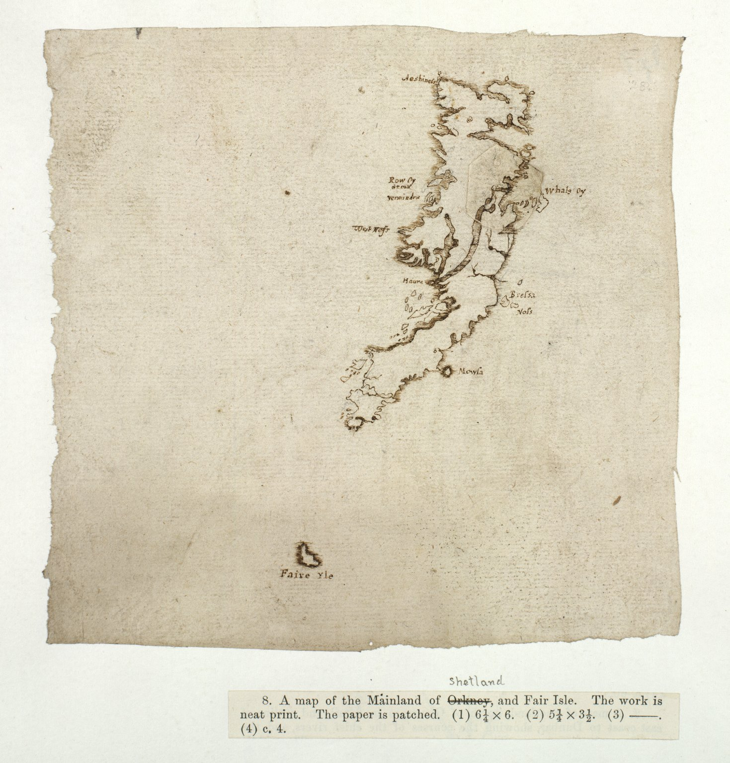 [A map of the Mainland of Shetland, and Fair Isle] [1 of 1]