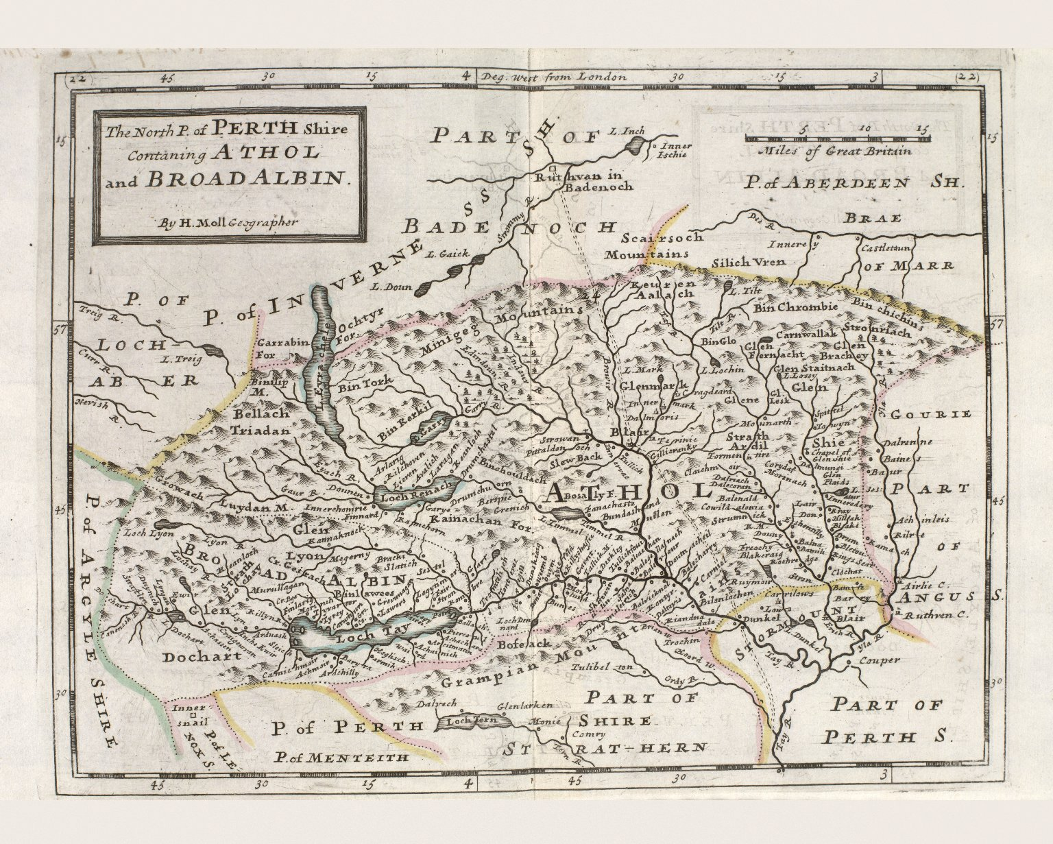 The North P. of Perth Shire Containing Athol and Broadalbin. [1 of 1]
