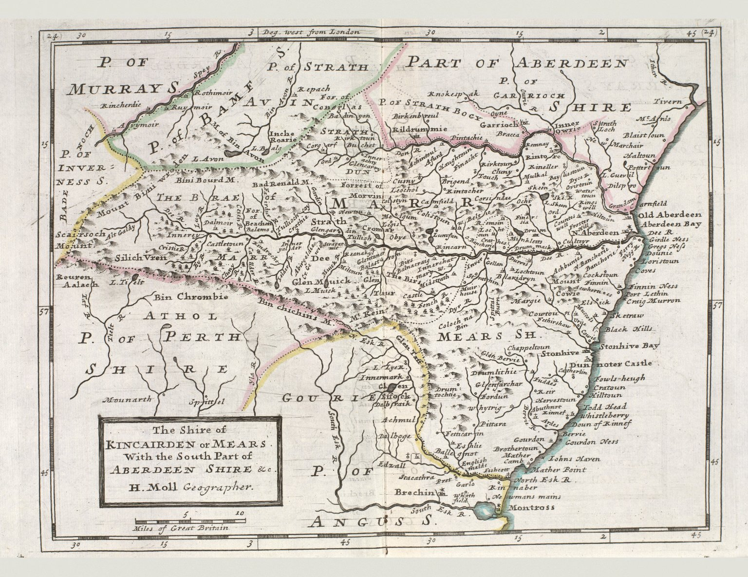 The Shire of Kincairden or Mears. With the South Part of Aberdeen Shire &c. [1 of 1]