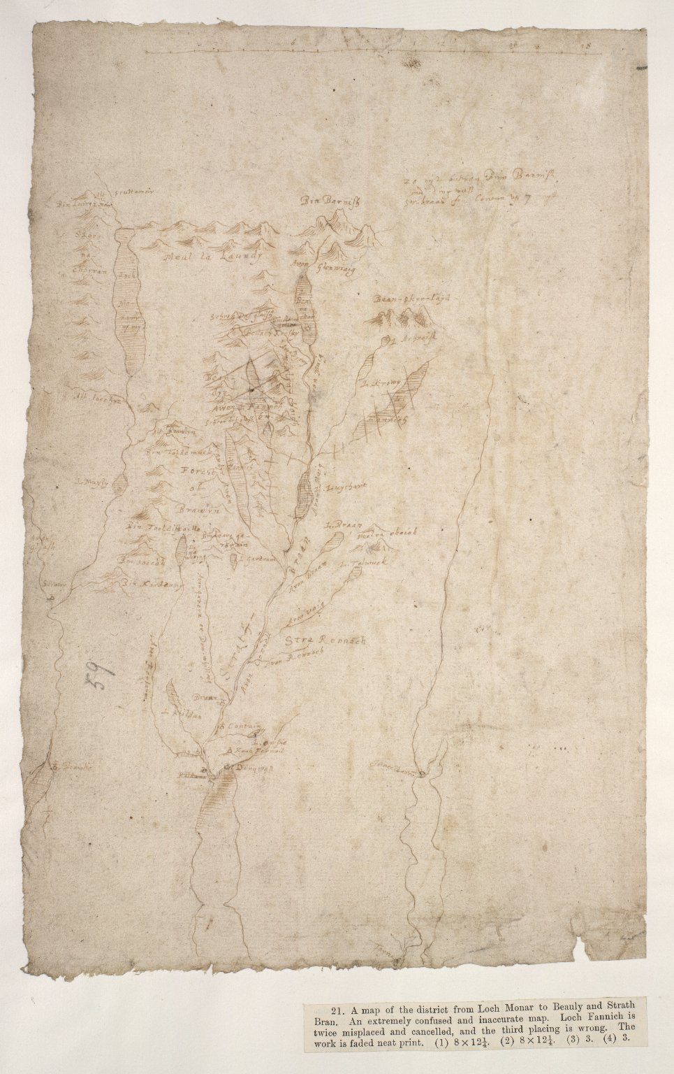 [Map of the district from Loch Monar to Beauly and Strath Bran] [1 of 1]