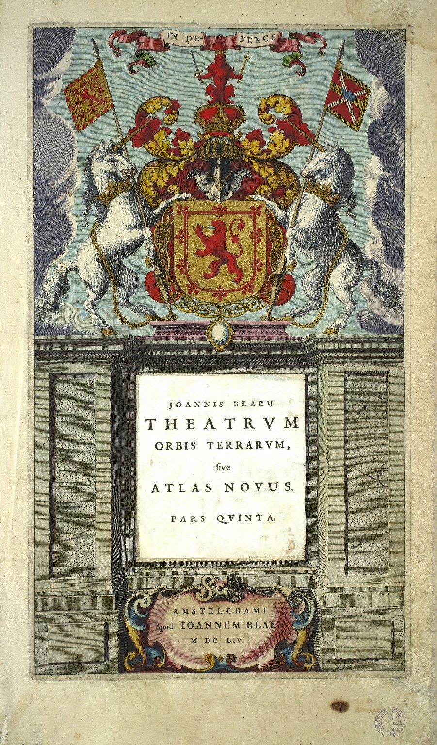 Theatrum orbis terrarum, sive atlas novus. Pars quinta [1 of 1]