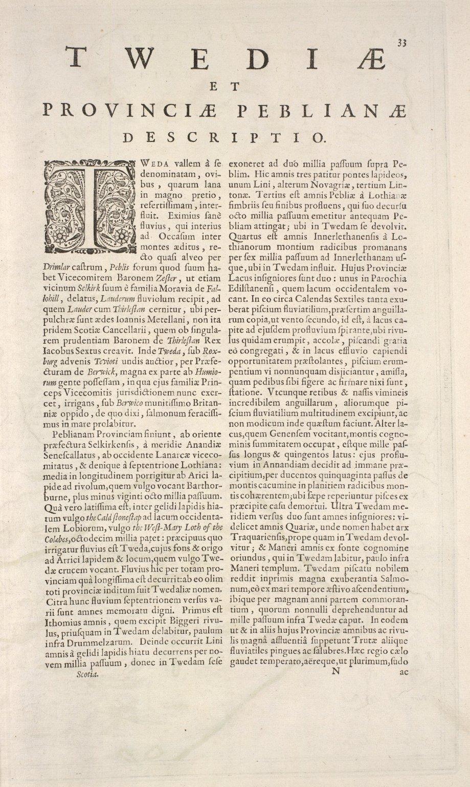 TEVIOTIA Vulgo TIVEDAIL [3 of 3]