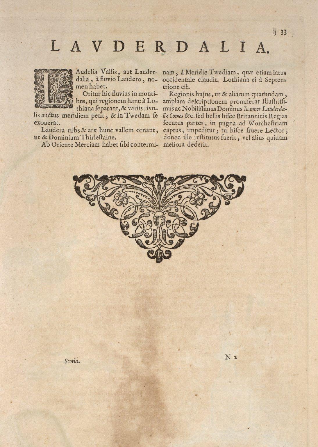 Laudelia sive Lauderdalia Scotis vulgo Lauderdail. [1 of 2]