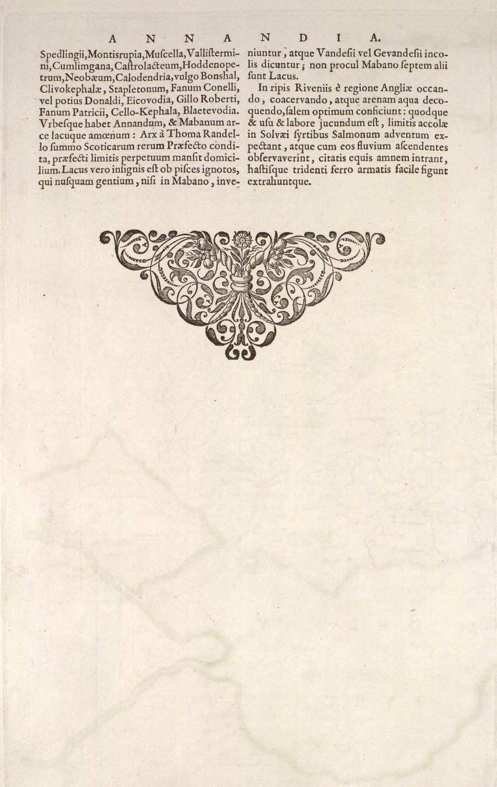 ANNANDIAE Praefectura, Vulgo THE STEWARTRIE of ANNANDAIL. [3 of 3]