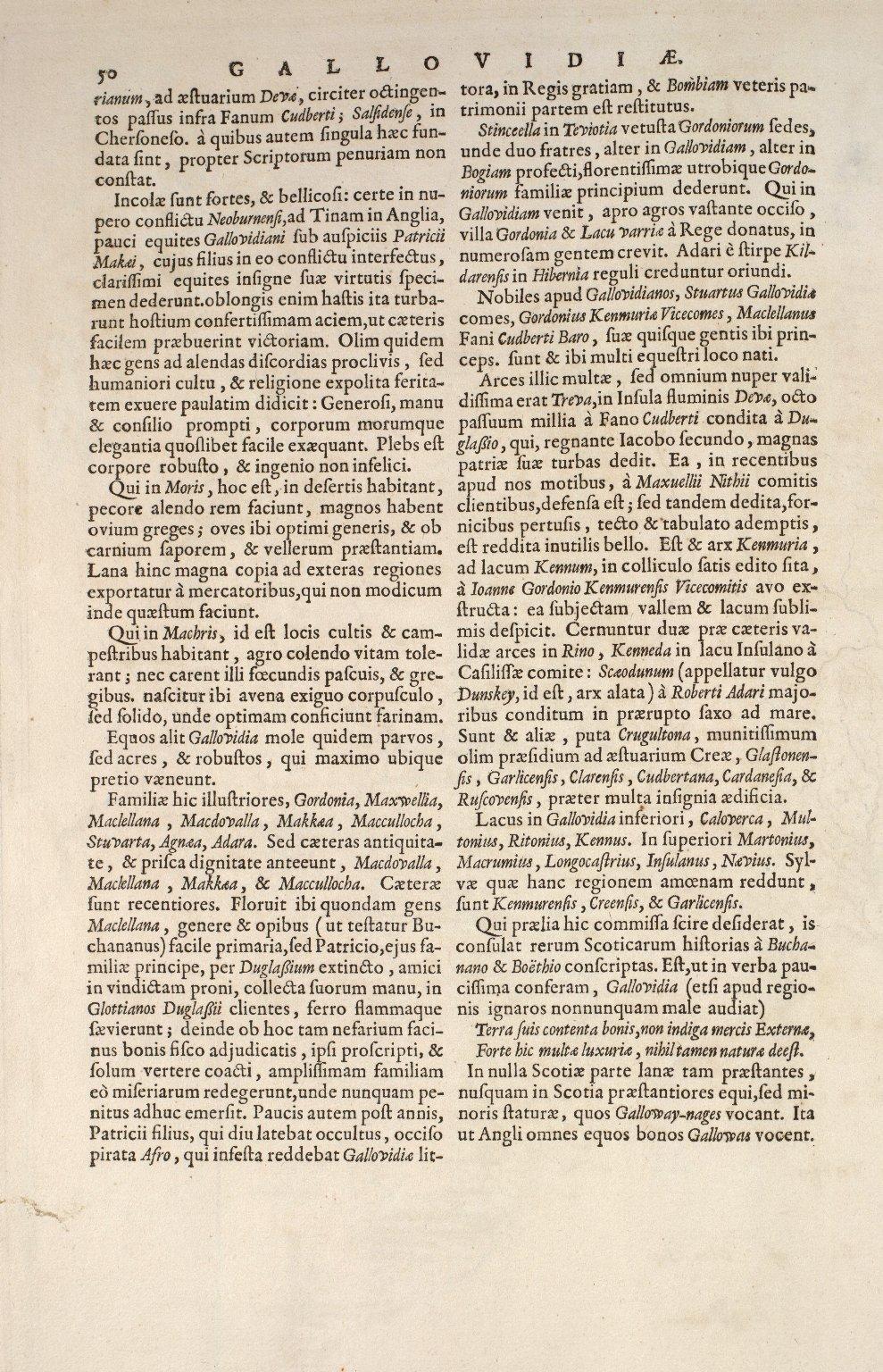 GALLOVIDIAE Pars Occidentalior, in qua VICECOMITATUS VICTONIENSIS cum Regalitate Glenlucensi [3 of 3]