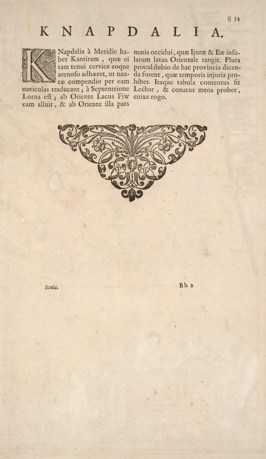 KNAPDALIA PROVINCIA, que sub Argathelia censetur. [1 of 2]