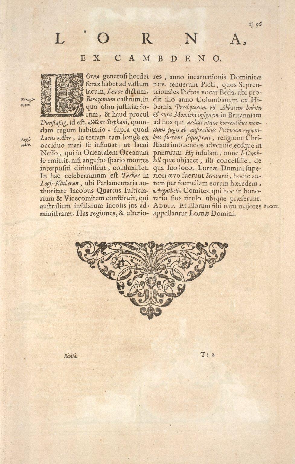 Lorna cum insulis vicinis et provinciis eidem conterminis. [1 of 2]