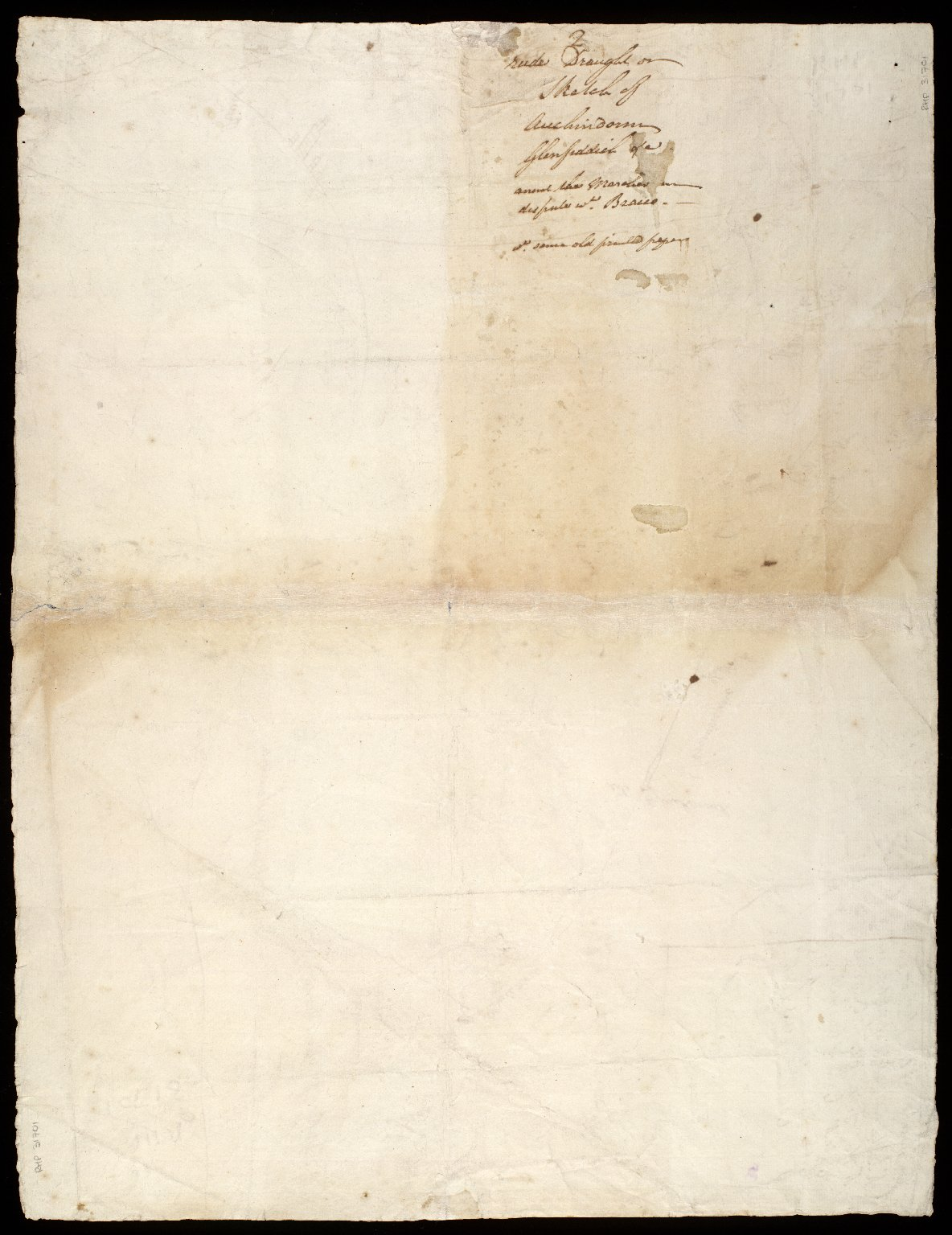 [Sketch plan of barony of Auchindown, relative to march dispute with Lord Braco] [2 of 2]
