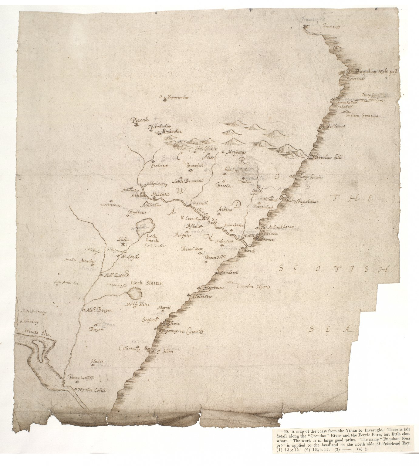 [A map of the coast from the River Ythan to Inverugie] [1 of 1]