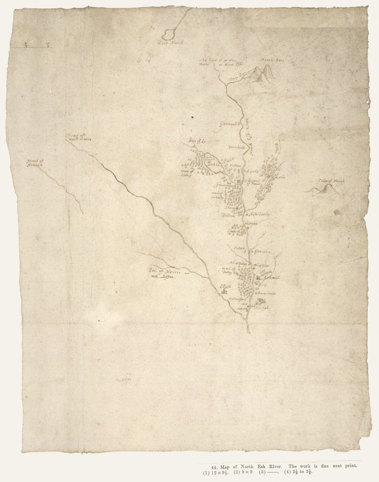 [Map of North Esk River] [1 of 1]