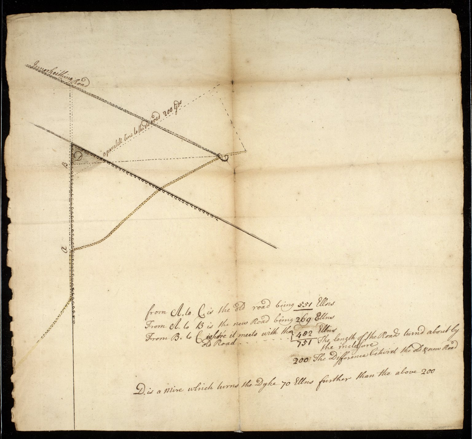 [Sketch plan of the roads of Inverkeithing] [1 of 2]