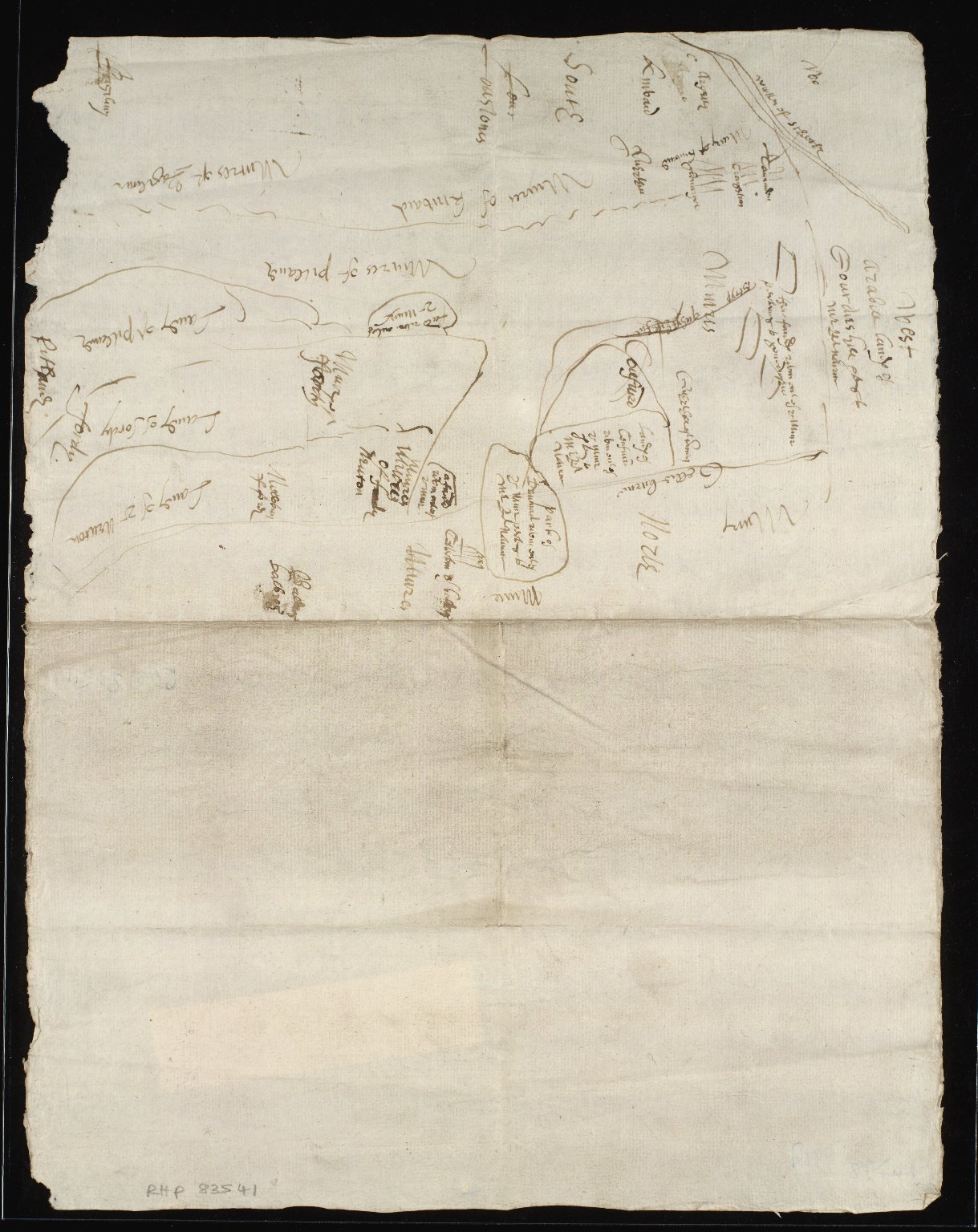 [Sketch plan of muirs of Newton, Cowfuird, Fordy, Pitlandie and Kinvaid] [1 of 1]
