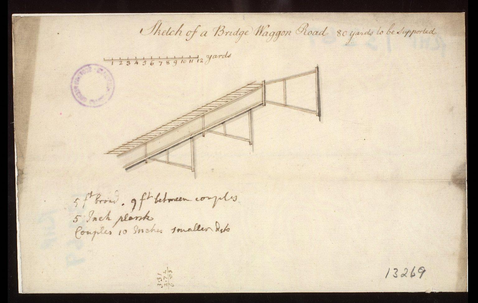 Sketch of a Bridge Waggon [i.e. wagon] Road. [1 of 1]