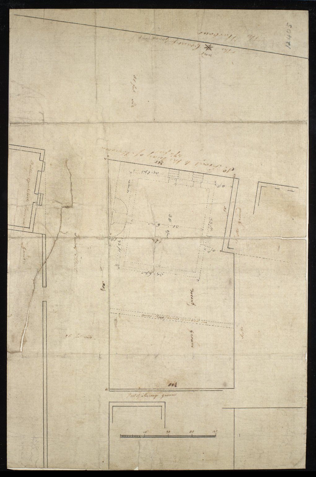 [Plan of vacant ground on James Street] [1 of 1]