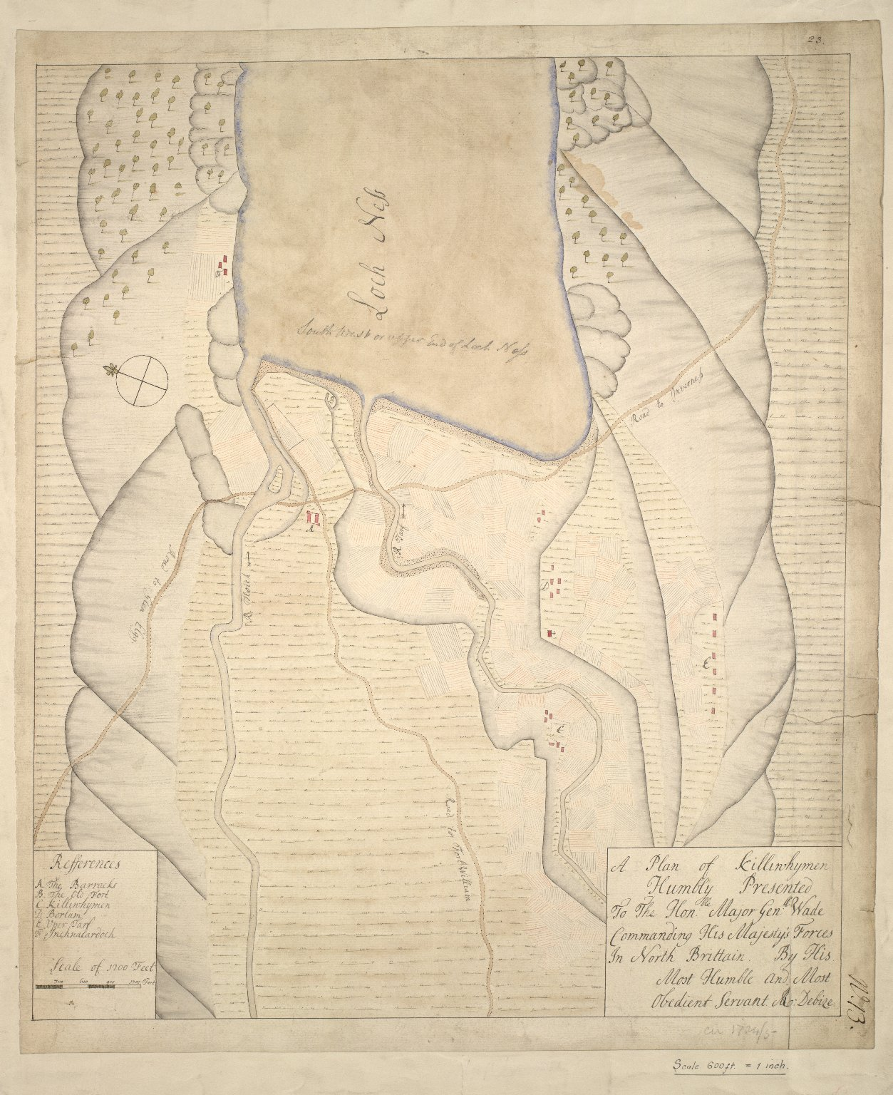 A Plan of Killiwhymen humbly presented to the Hon. Major Gen. Wade Commanding His Majesty's Forces in North Brittain [1 of 1]